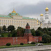 Great Kremlin Palace, Kremlin Wall, and Assumption Cathedral in Red Square, Moscow, Russia