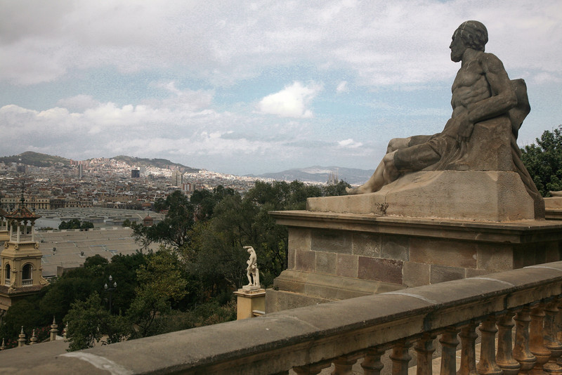Views from the National Palace in the Montjuic district, Barcelona, Spain