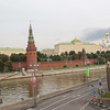 Great Kremlin Palace, Kremlin Wall, and Assumption Cathedral in Red Square, lMoscow, Russia
