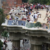 The terrace overlook at Park Guell, Barcelona, Spain