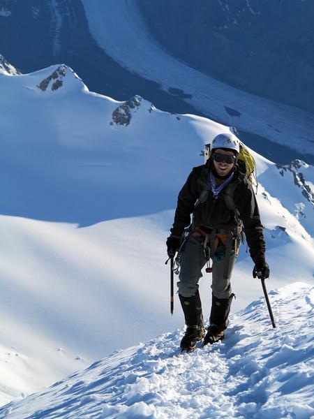 James on the summit ice cap