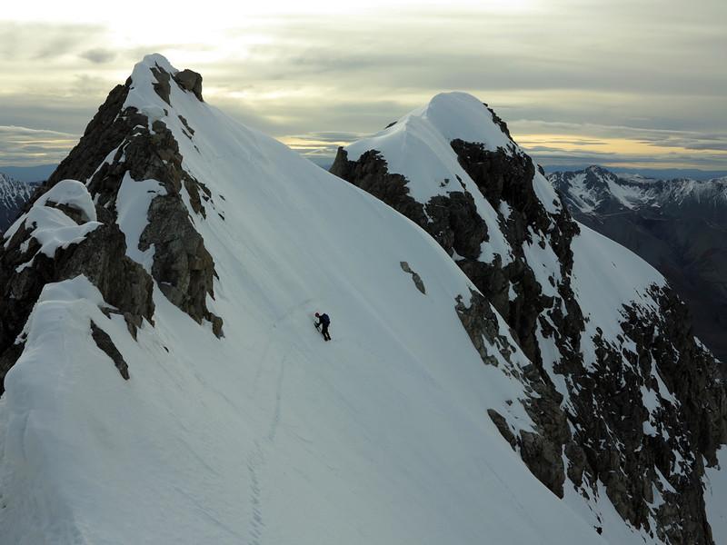 Brad approaches the East Ridge