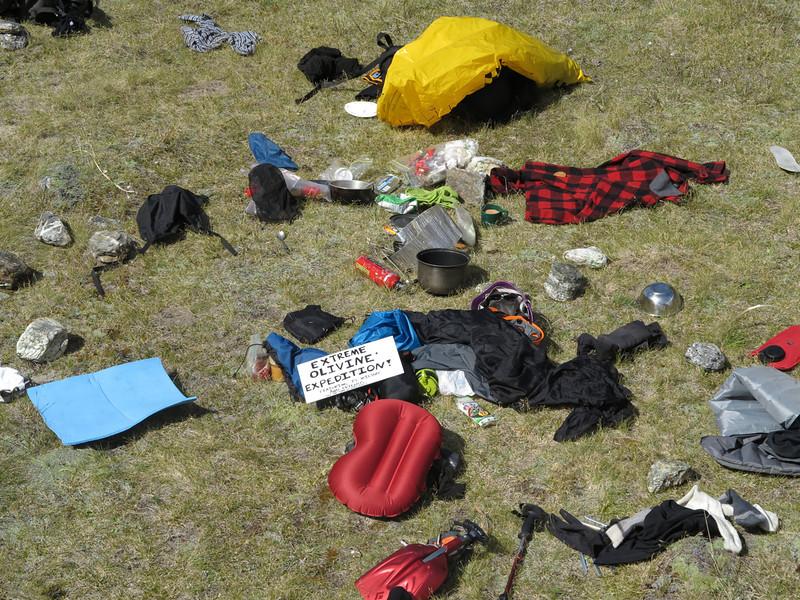 Camp detritus