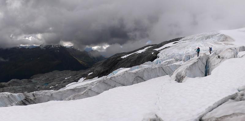 Crossing the Iso Glacier