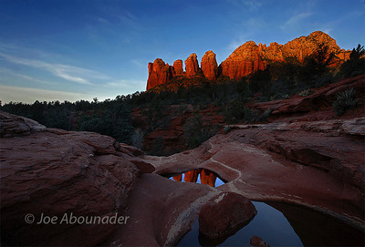 Seven Sacred Pools Reflections.  April 2011, Sedona, Arizona.