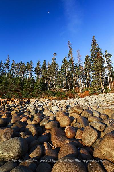 Bleu Blanc Vert... October 2011.  Otter Cliffs, Acadia National Park, Maine.