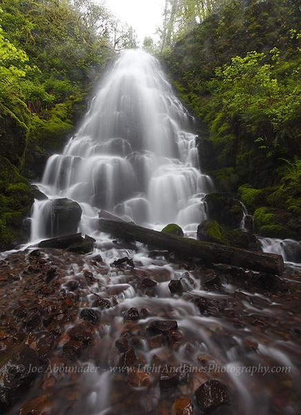 Headless Bride.<br /> <br /> Fairy Falls, Columbia River Gorge, Oregon.