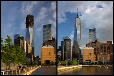 1 World Trade Center diptych 2012 & 2014