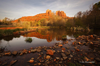 Cathedral Rock Sunset.  Photo taken near Sedona, Arizona - April 2011.