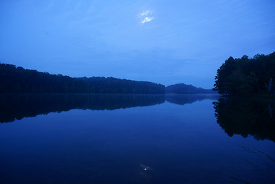 Clopper Lake, Maryland before sunrise.