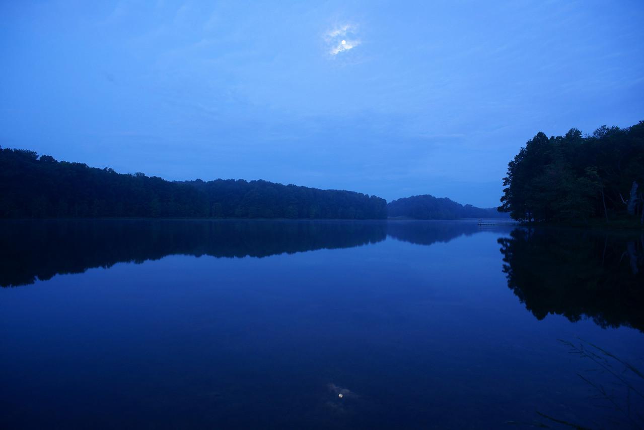 Clopper Lake, Maryland before sunrise.