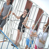 "From left riding the ""Inferno"" at the Cambria County Fair in Ebensburg are Sterling Bard,13, of Warfordsburg, Alexis Daughenbaugh,12, of Twin Rocks, Marah Ketchock, 8, of Revloc, and Rose Verrelli,15, of Fallen Timber, Monday, Sept.3, 2012."