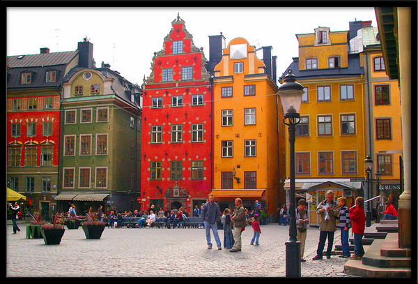 The trade square part of Stockholm's old city. Years ago all materials and resoures in Sweden were bought here for the merchants to trade and sell.