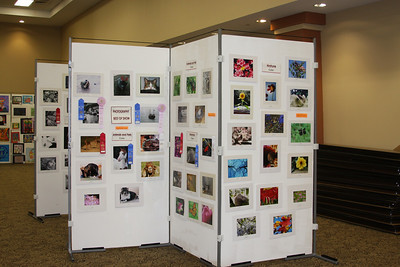 Photo contest display at Mid-South Fair