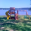 New swing set at the lake house!