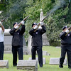 Members of Veterans of Lansingburgh firing squad fire volley during 55th Memorial Anniversary honoring Uncle Sam Wilson of Troy, N.Y., Saturday, September 14, 2013 in Oakwood Cemetery in Troy, N.Y.. (J.S.CARRAS/THE RECORD)