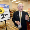 Neil Golub, Executive Chairman of the board of Golub Corporation gives tour of Price Chopper, Wednesday, September 11, 2013 in Latham, N.Y.. (J.S.CARRAS/THE RECORD)