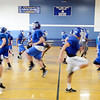 LaSalle Institute football players workout inside due to  heat index Wednesday, September 11, 2013 in Troy, N.Y.. (J.S.CARRAS/THE RECORD)