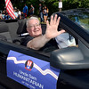 Fr. James Spenard, OAS, Pastor St. Augustine's Parish and Humanitaian of Year rides in the 38th annual Uncle Sam Parade Sunday, September 15, 2013 on Fifth Avenue in Lansingburgh, N.Y.. (J.S.CARRAS/THE RECORD)