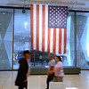U.S. flag from FDNY Engine 6 on 49 Beekman Street is hung in the entrance of New York State Museum as part of September 11th display Tuesday, September 10, 2013 in Albany, N.Y.. (J.S.CARRAS/THE RECORD)