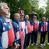 Members of Uncle Sam Chorus sing National Anthem during 55th Memorial Anniversary honoring Uncle Sam Wilson of Troy, N.Y., Saturday, September 14, 2013 in Oakwood Cemetery in Troy, N.Y.. (J.S.CARRAS/THE RECORD)