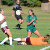 Shenendehowa's Kelsie Moinzadeh (5) is stopped by Colonie goalkeeper Amber Yarter as Colonie Gina Capobianco (17) defends on the play during first half of high school girls soccer action Tuesday, September 17, 2013 at Colonie High School, in Colonie, N.Y.. (J.S.CARRAS/THE RECORD)