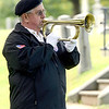 Veterans of Lansingburgh member Ken Mirocki plays TAPS during 55th Memorial Anniversary honoring Uncle Sam Wilson of Troy, N.Y., Saturday, September 14, 2013 in Oakwood Cemetery in Troy, N.Y.. (J.S.CARRAS/THE RECORD)