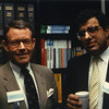 To Buy or Not To Buy?: The Dilemma of Soaring Serials Prices. The Putnam Companies, Boston. Thursday, February 16th, 1989. Pictured: Phil Greene (EBSCO) and James Matarazzo.