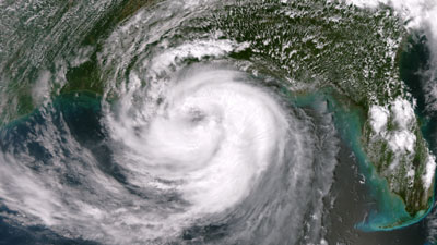 This satellite image from the National Oceanic and Atmospheric Administration (NOAA) shows Hurricane Isaac as it approaches the Gulf Coast at 1:35 p.m. Central on August, 28, 2012. (Photo by NOAA)