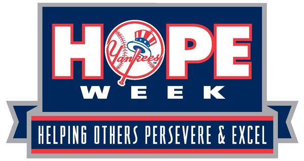 New York Yankees Hope Week logo.