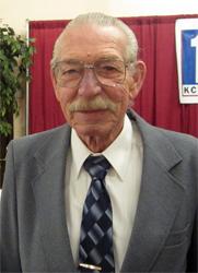A Senior Corps volunteer, John Urbigkit of Cheyenne,WY. Urbigkit serves as a Foster Grandparent at Triumph High School. (Photo courtesy of KCWY13)