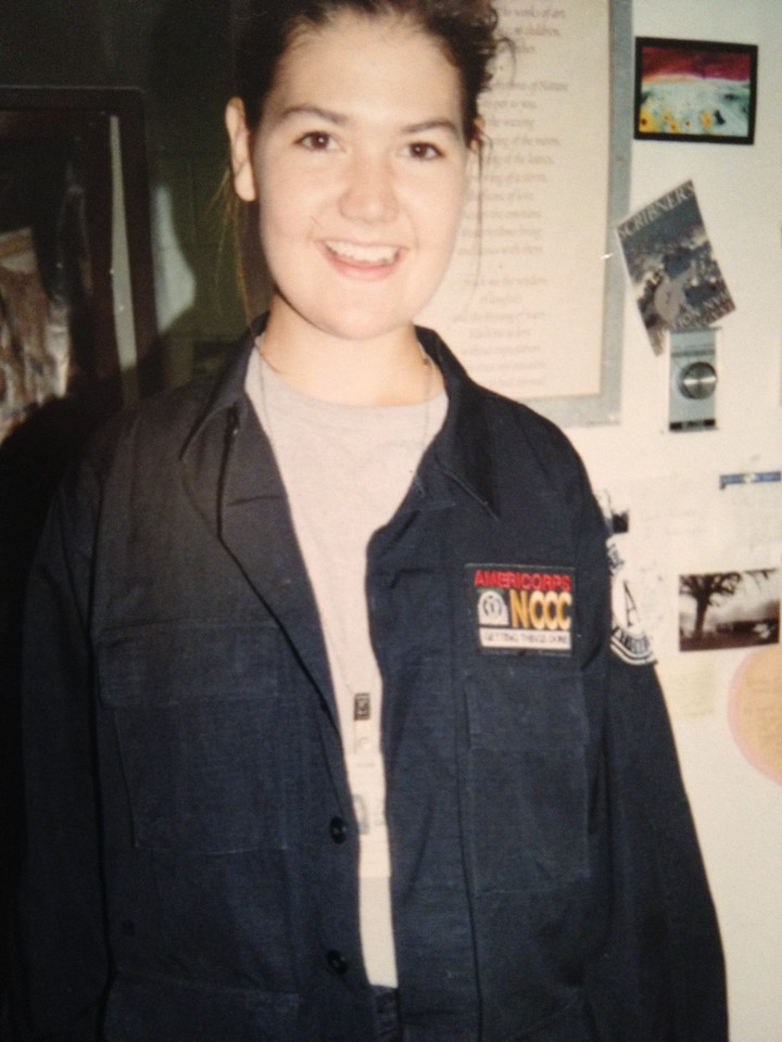 This photo of Rebecca Lange was taken during her AmeriCorps NCCC tenure from 1995-1996.