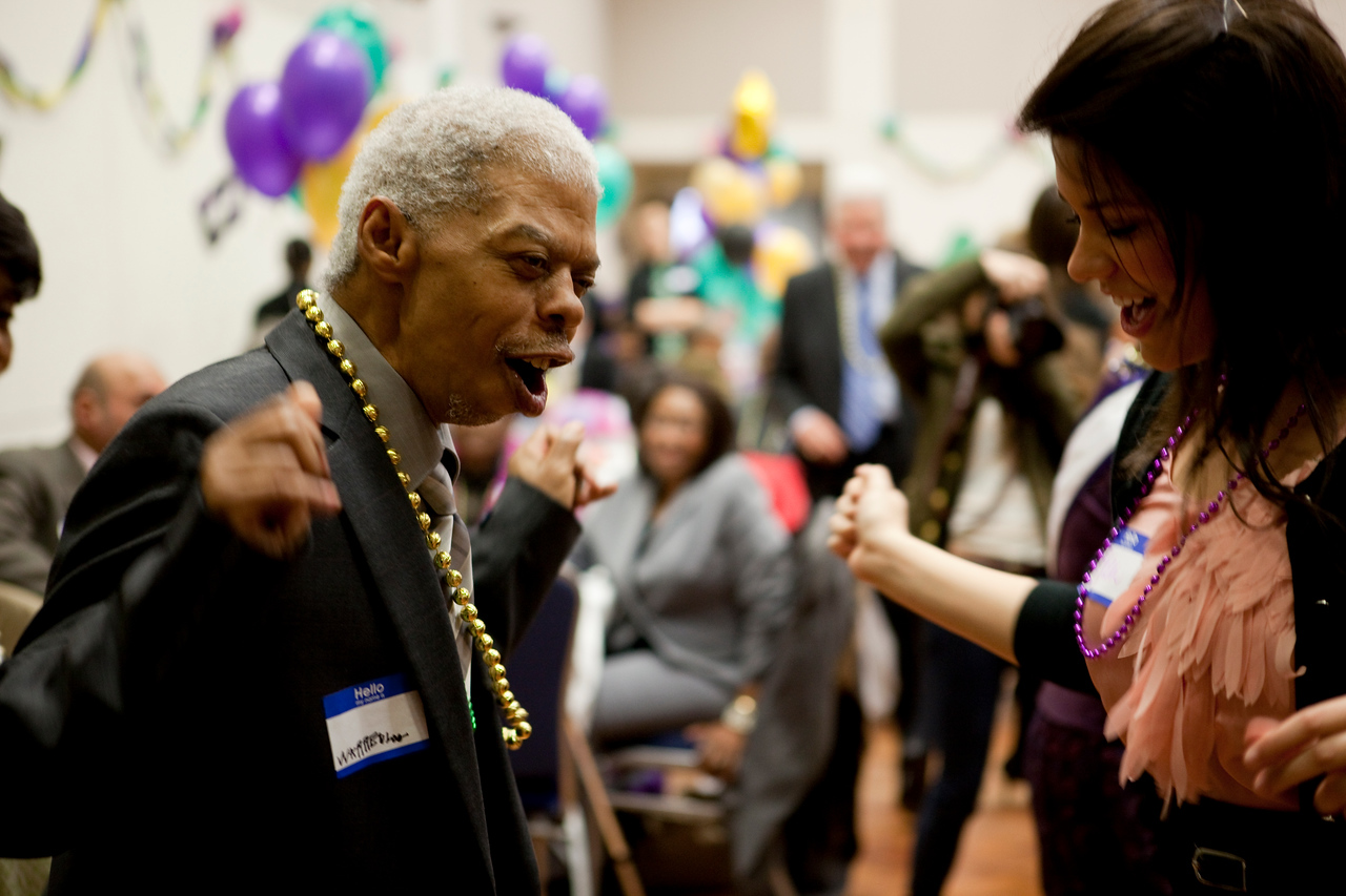 Approximately 200 senior citizens joined GW students for an evening of dinner, games and a whole lot of dancing at GW's eighth annual Senior Prom Feb. 28 in the Marvin Center Continental Ballroom.
