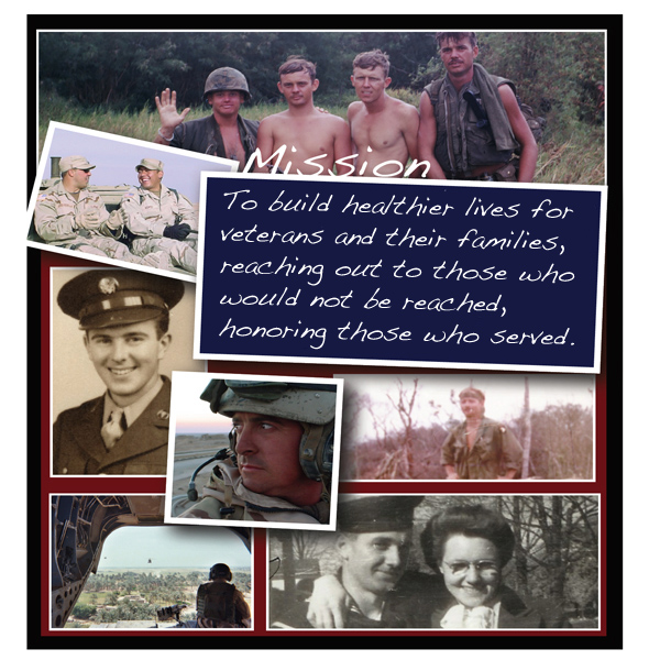 Veterans Helping Veterans Now - Mission Statement and Photo Collage