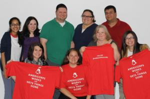 Lisa Tatum poses for a photo with some of her fellow North Texas AmeriCorps Alums.
