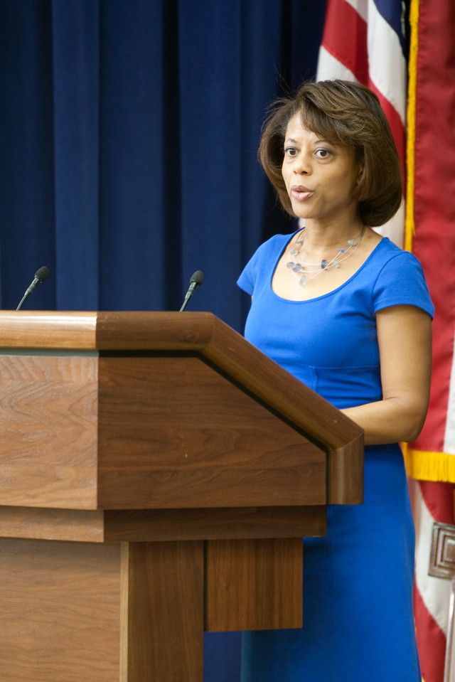 Melody Barnes, Director of the Domestic Policy Council, speaks at the U.S. Administration on Aging event on July 13, 2011.