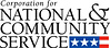 Corporation for National and Community Service logo.