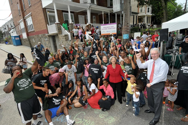 More than 125 students from YouthBuild Philadelphia Charter School partnered with Saint Gobain Corporation Foundation and in less than 18 months successfully reconstructed a home in Philadelphia's Germantown area.