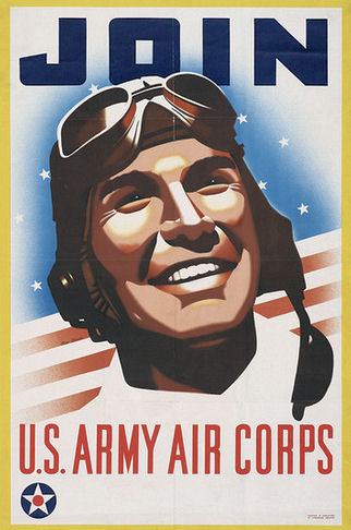 US Army Air Corps vintage recruitment poster