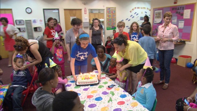 Birthday Wishes parties include crafts, music, dancing, and cake. In 2012, the group threw parties for nearly 20,000 homeless children.