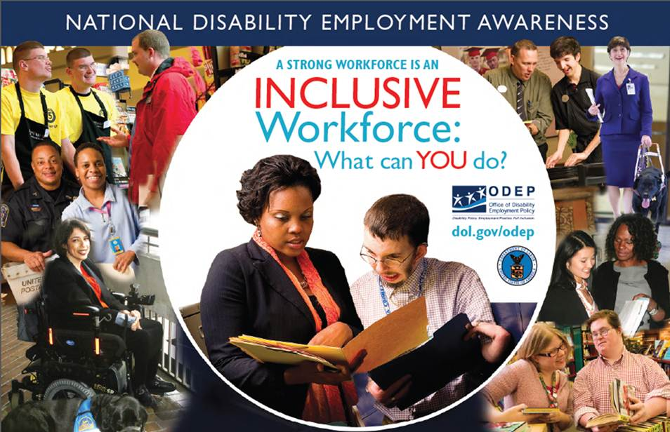 The Department of Labor created this poster for this year's National Disability Employment Awareness Month.