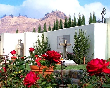 Cesar E. Chavez' grave site and Memorial Garden at the National Chavez Center, location of the the Chavez National Monument. (Photo courtesy of the National Chavez Center)