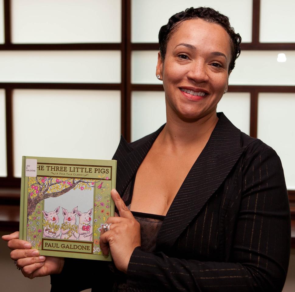 Trina Harris likes the lesson The Three Little Pigs teaches kids.