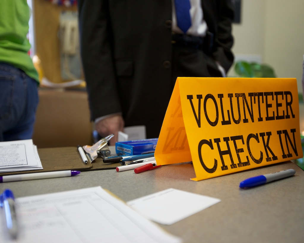 Volunteer Check-in Station