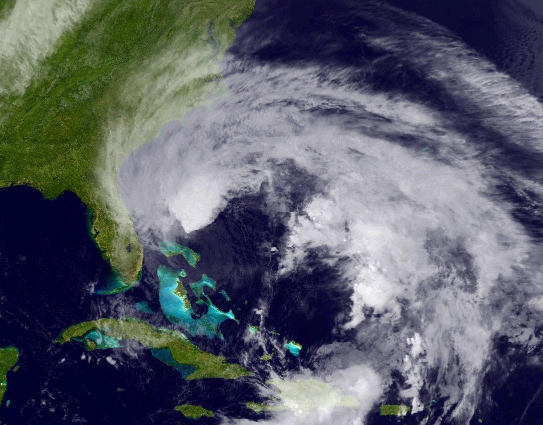 Hurricane Sandy, 6:00 PM, October 26, 2012. (Photo courtesy NOAA National Weather Service Hurricane Center)