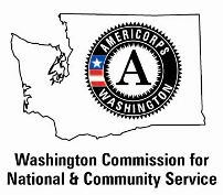 Washington Commission for National and Community Service logo.