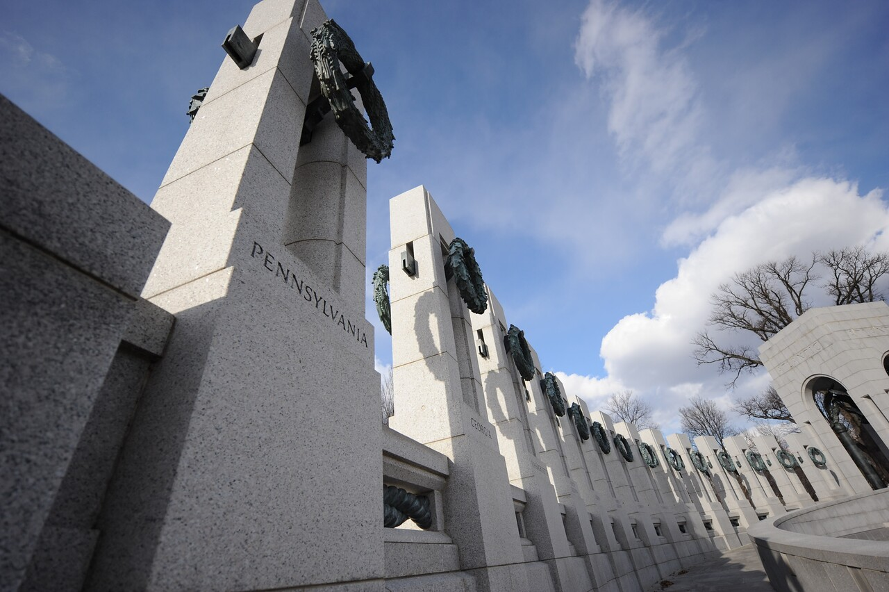 The World War II Memorial in Washington, D.C., can be seen Feb. 8, 2011. The memorial is part of the National Park Service and is dedicated to all Americans who served during the Second World War. (U.S. Marine Corps photo by Lance Cpl. James B. Purschwitz/Released)