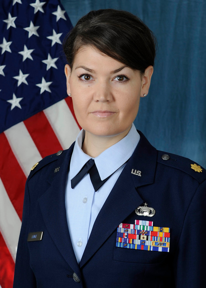 U.S. Air Force Major Rebecca Lange.