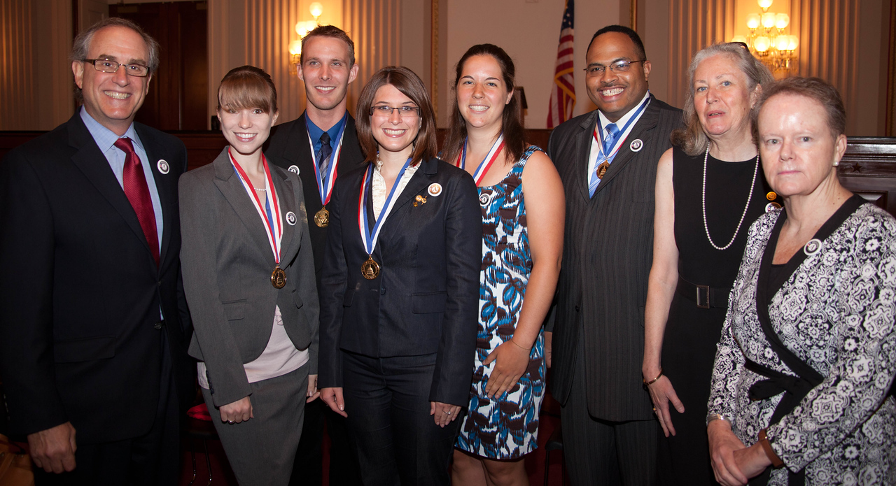 Winners and service leaders at the Congressional Gold Medal Award Ceremony on June 23, 2011.