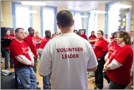 HandsOn Greater DC Cares Volunteer Leader. (Photo from HandsOn Greater DC Cares)